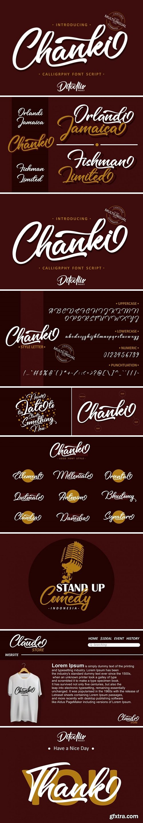 Fontbundles - Chanki Calligraphy Script 520816