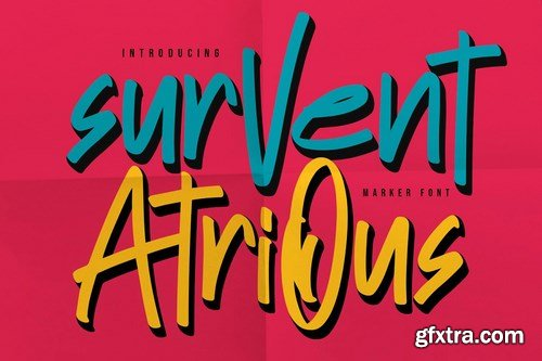 CM - Survent Atrious Marker Font 4728698