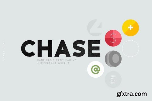Chase Font Family by vuuuds on Envato Elements