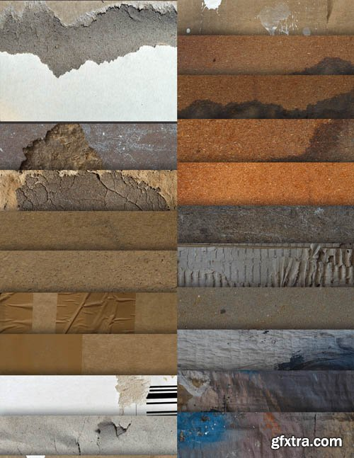 20 High Res Textures - Cardboard - Stock Photo