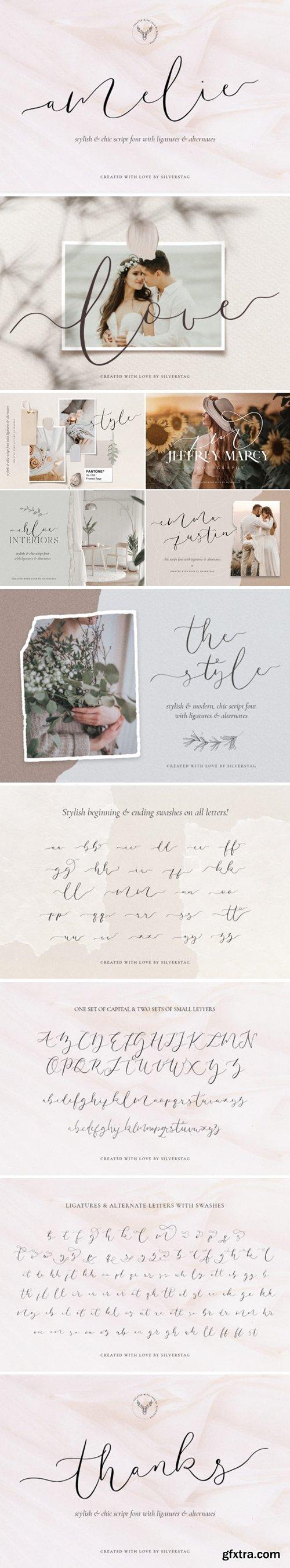 CM - Amelie - Chic & Elegant Script Font 4723543