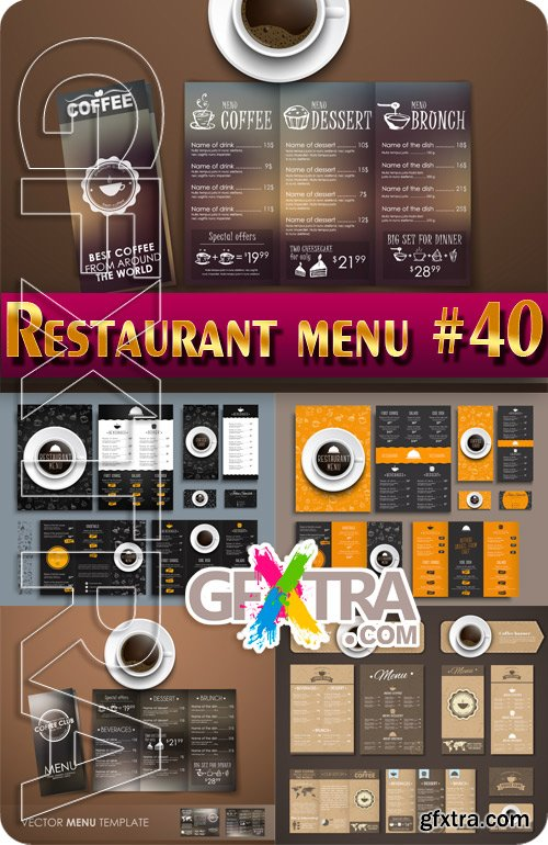 Restaurant menu #40 - Stock Vector