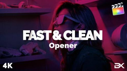 Videohive - Fast & Clean Opener