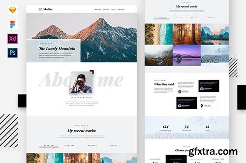 Shutter - Photography Website Template.psd