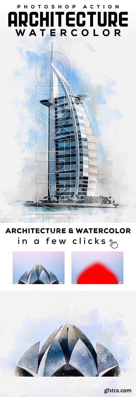 GraphicRiver - Architecture Watercolor Photoshop Action 25914179