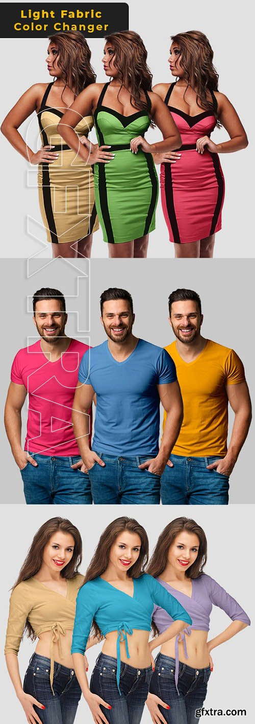 GraphicRiver - Light Fabric Color Changer - Photoshop Action 26003619