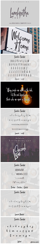Lambretha Font