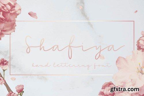 Shafiya - Hand Lettering Font