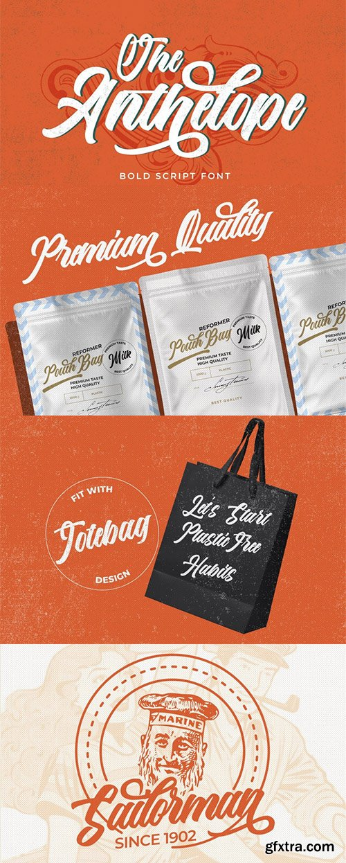 The Anthelope Script Font