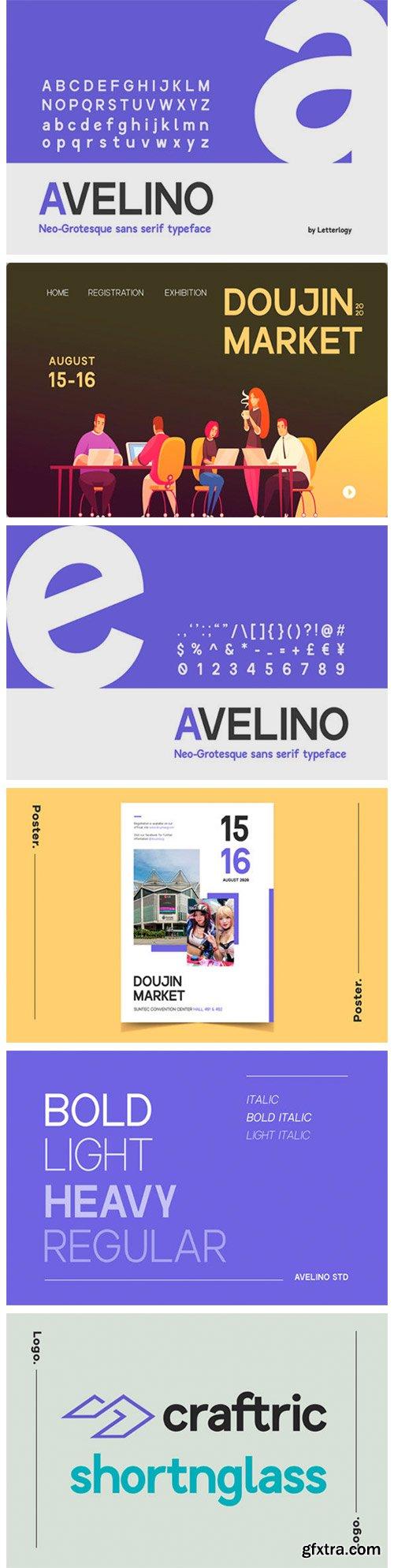 Avelino STD Font Family