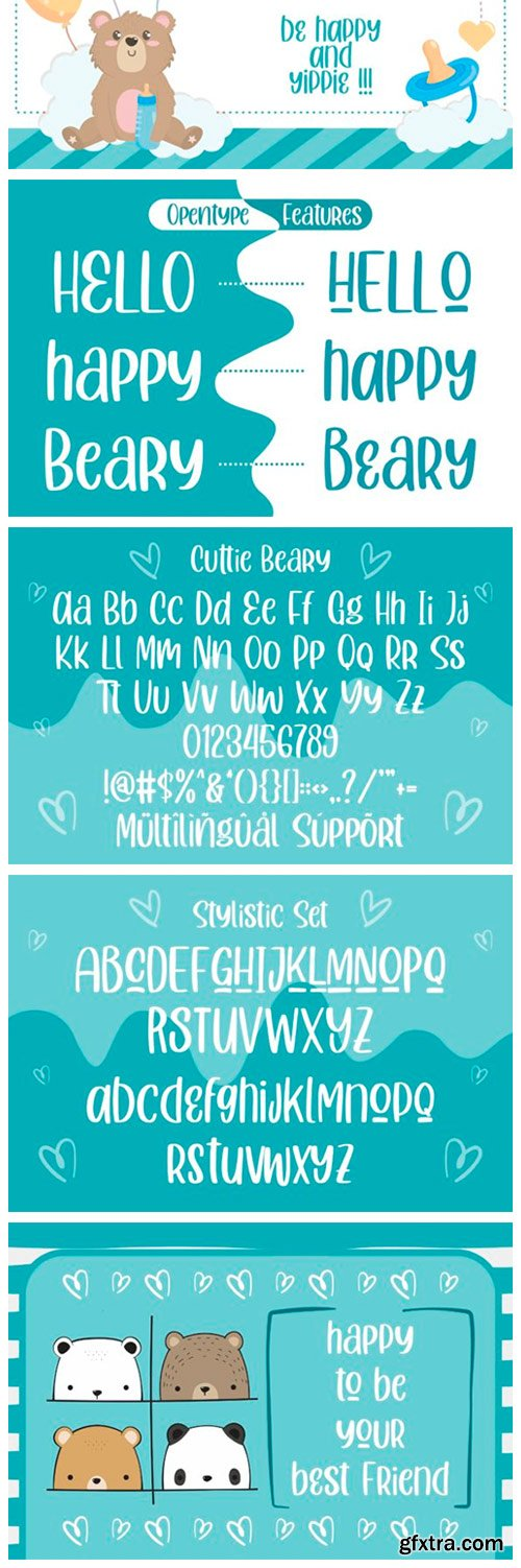 Cuttie Beary Font