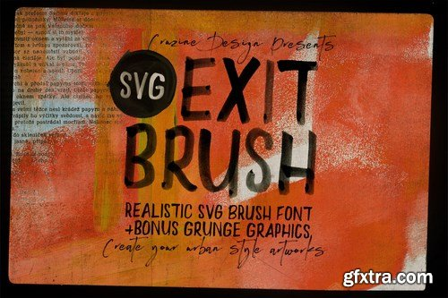Exit Brush & SVG Font