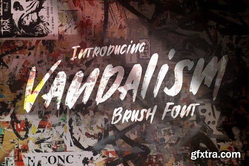 Vandalism - Urban Street Brush Font