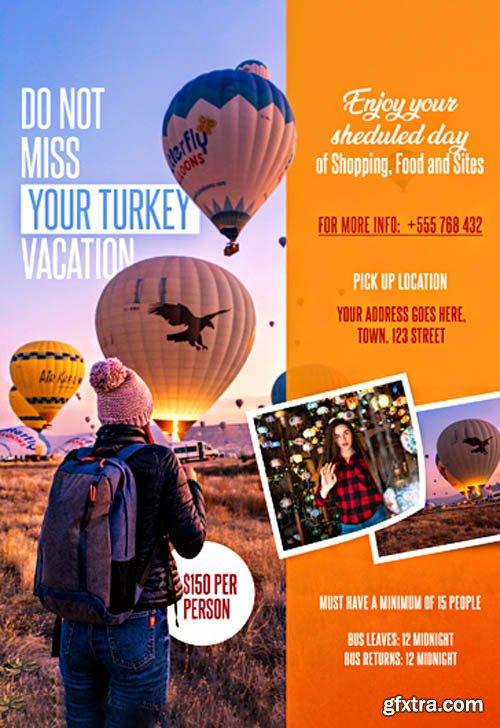 Travel V2003 2020 Premium PSD Flyer Template