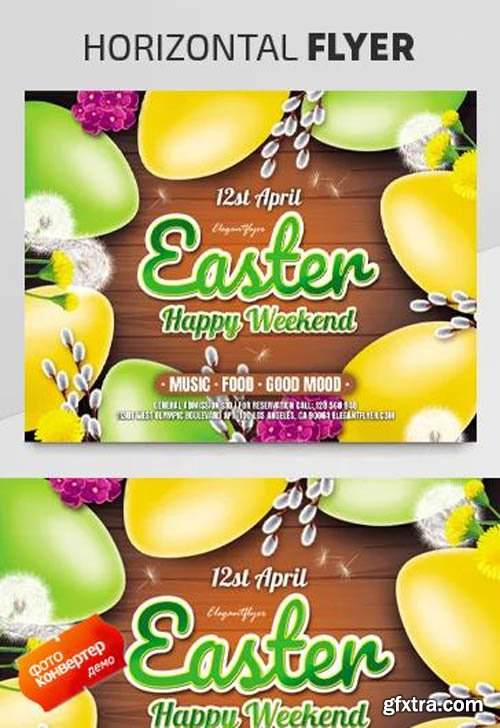 Easter Party V2003 2020 Premium PSD Flyer Template