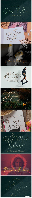 Calvin Fallen Font