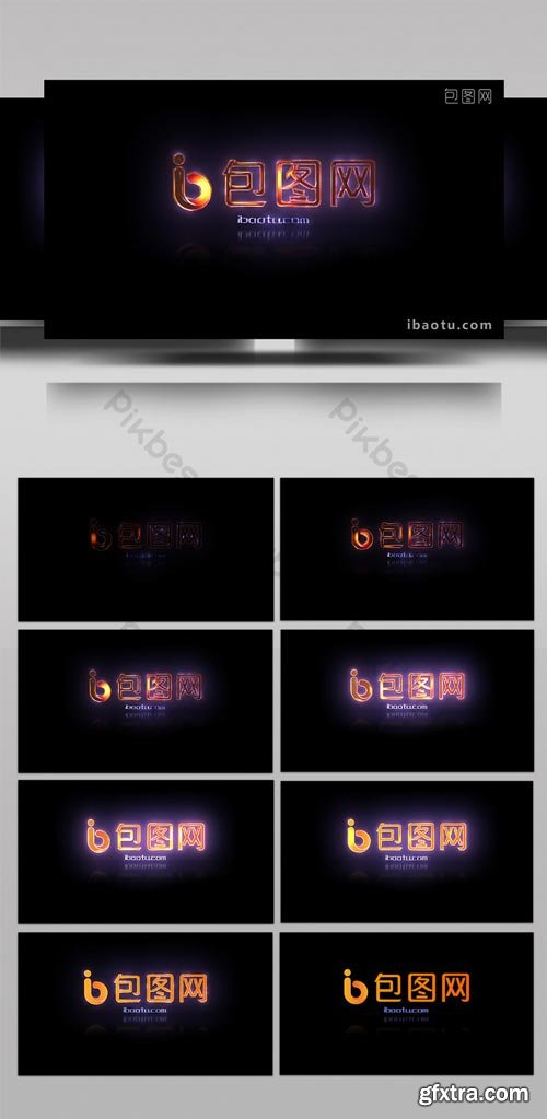 PikBest - reflection neon display LOGO template AE template - 1617904