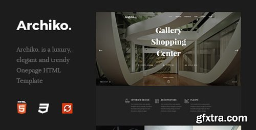 ThemeForest - Archiko. v1.0 - Architecture Onepage HTML Template - 26163504