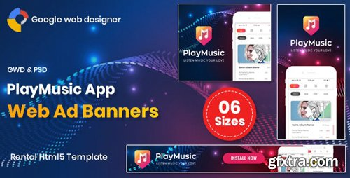 CodeCanyon - Play Music App Banners GWD v1.0 - 26163957