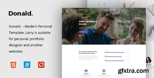 ThemeForest - Donald v1.0 - Personal Onepage HTML Template - 26158839