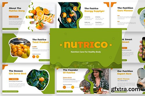 Nutrico - Nutrition Care Powerpoint, Keynote and Google Slide Template