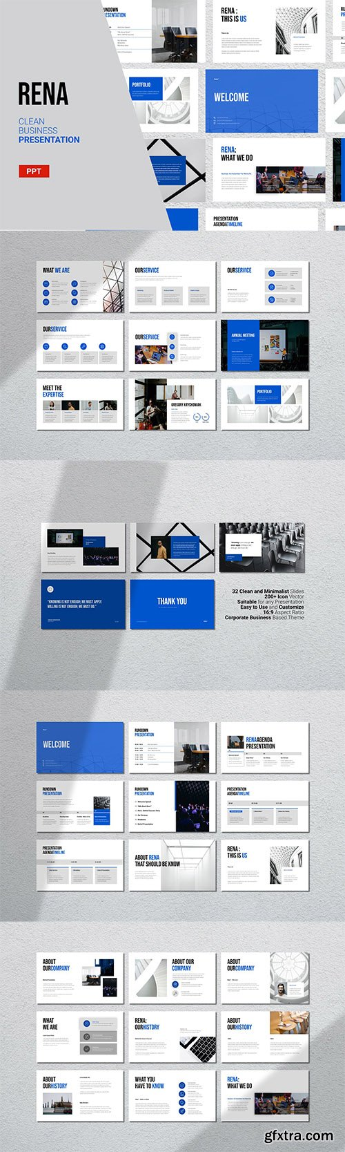 Rena - Clean Powerpoint, Keynote and Google Slide Template