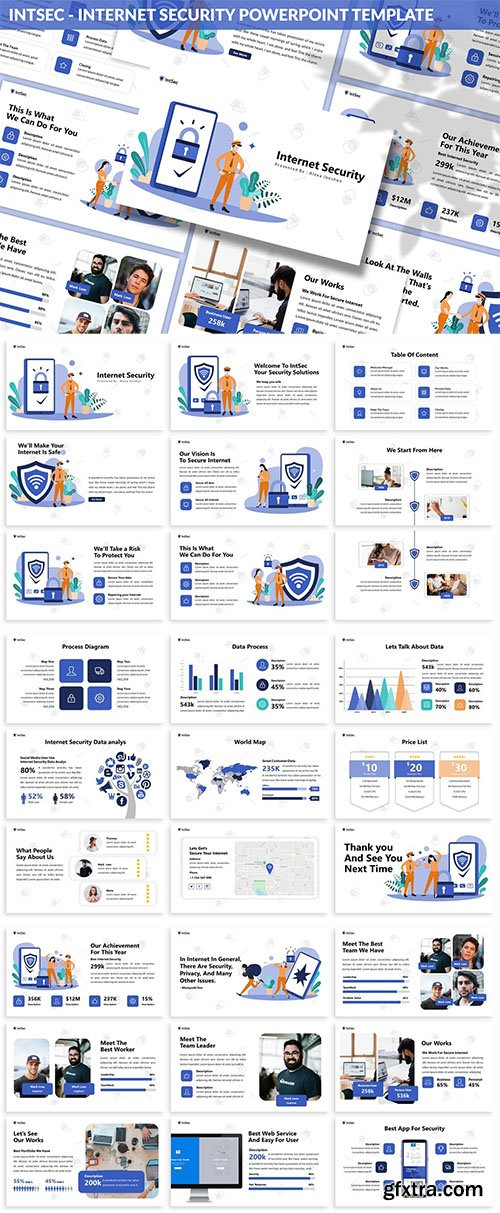 Intsec - Internet Security Powerpoint Template