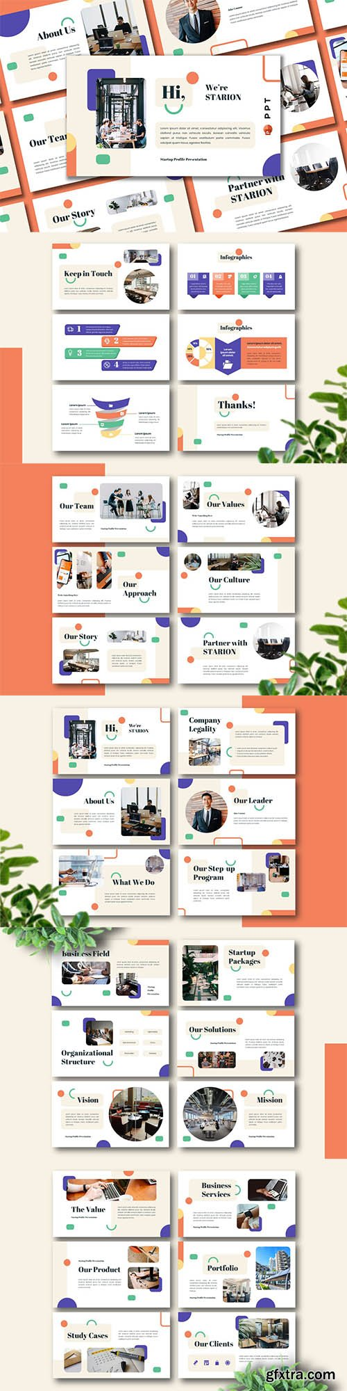 STARION - Startup Profile Powerpoint, Keynote and Google Slide Template
