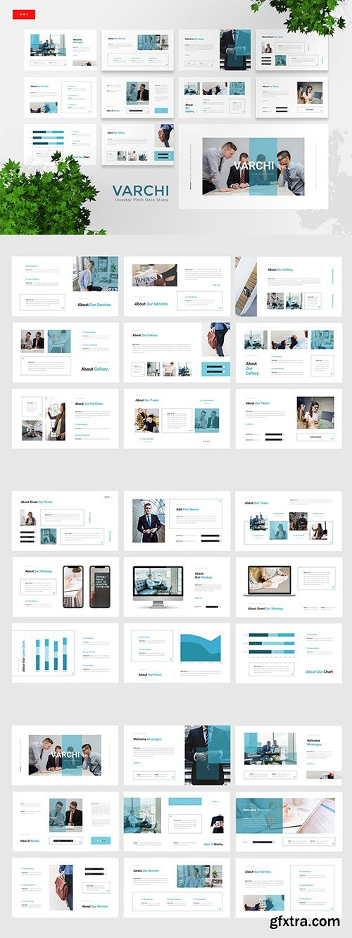 Varchi - Investor Pitch Deck Powerpoint, Keynote and Google Slide Template