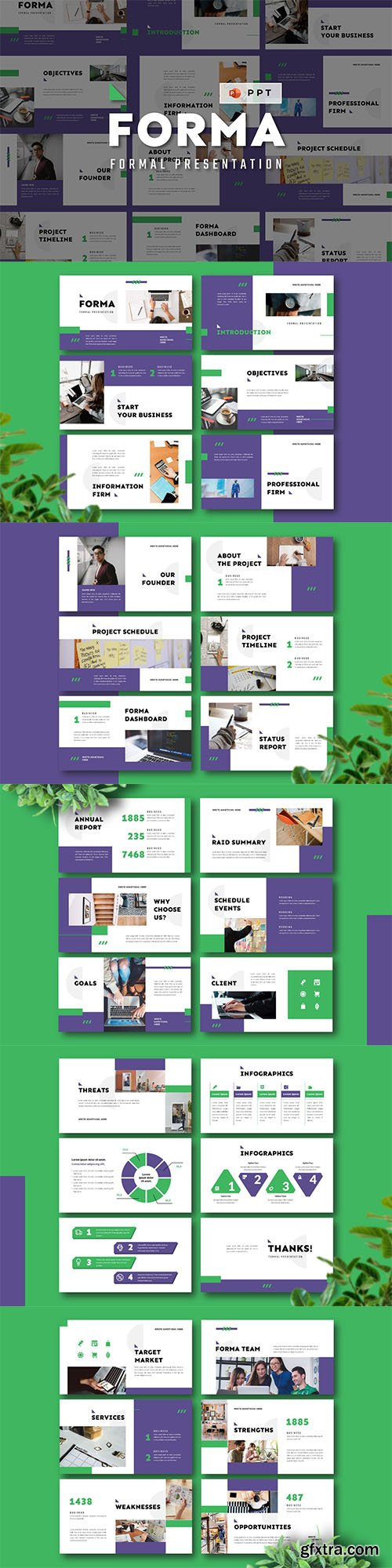 FORMA - Formal Powerpoint, Keynote and Google Slide Template