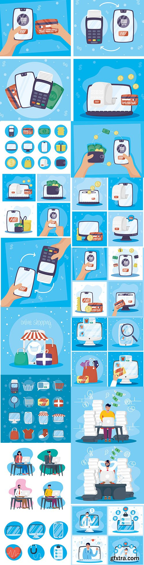 Payments and Health Online Technology with Smartphone