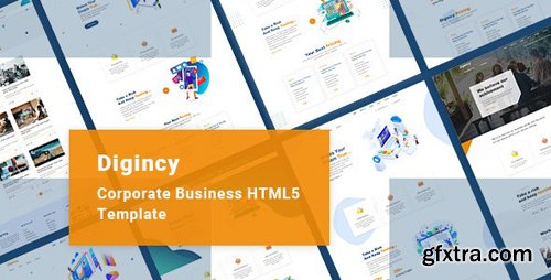 ThemeForest - Digincy v1.0 - Corporate Business Bootstrap 4 Template - 26177861
