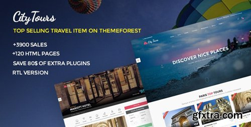 ThemeForest - CityTours v5.2 - Travel and Hotels Site Template - 10715647