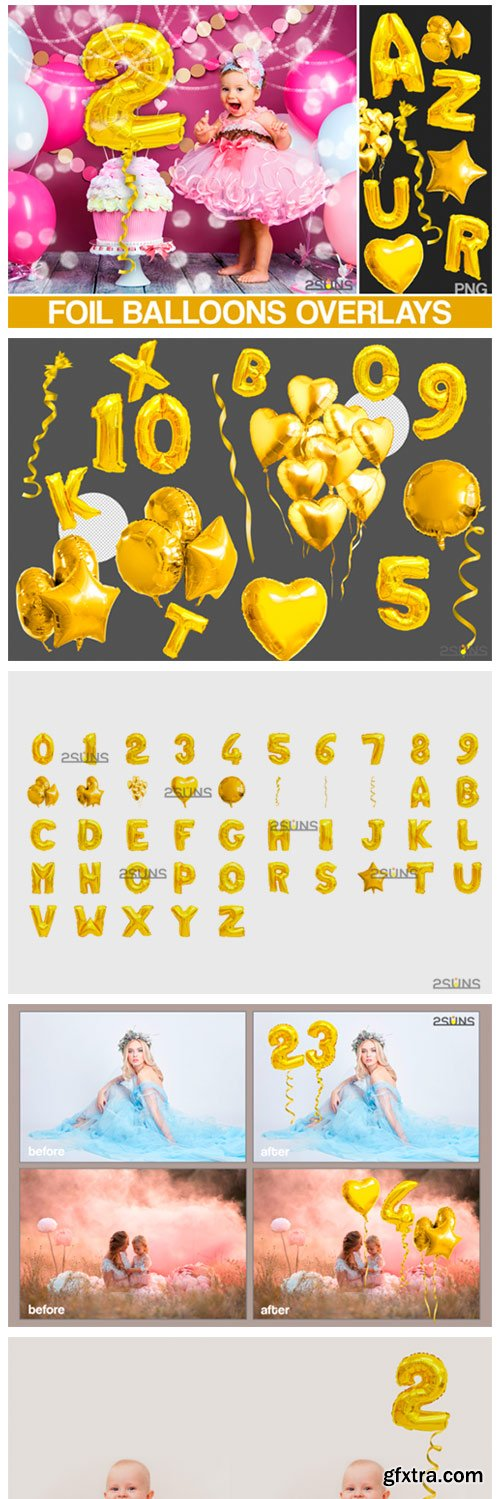 Foil Number Balloons Alphabet Photoshop 3752774