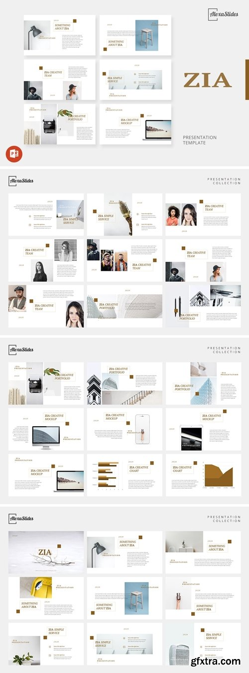 Zia - Creative Powerpoint, Keynote and Google Slides Templates