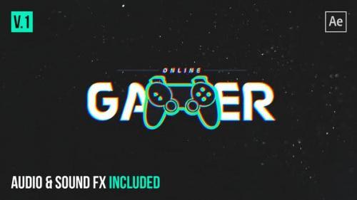 Videohive - Gamer Glitch Logo Reveal