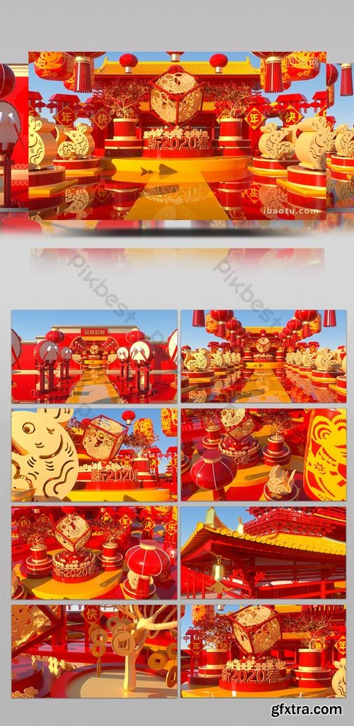 PikBest - Golden Rat Spring Festival 2020 Chinese New Year Festive New Year AE Template - 1618288