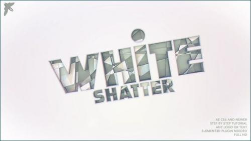 Videohive - White Shatter Logo