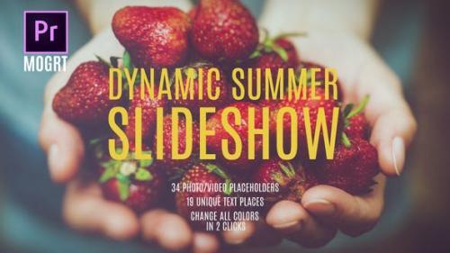 Videohive - Summer Dynamic Slideshow MOGRT