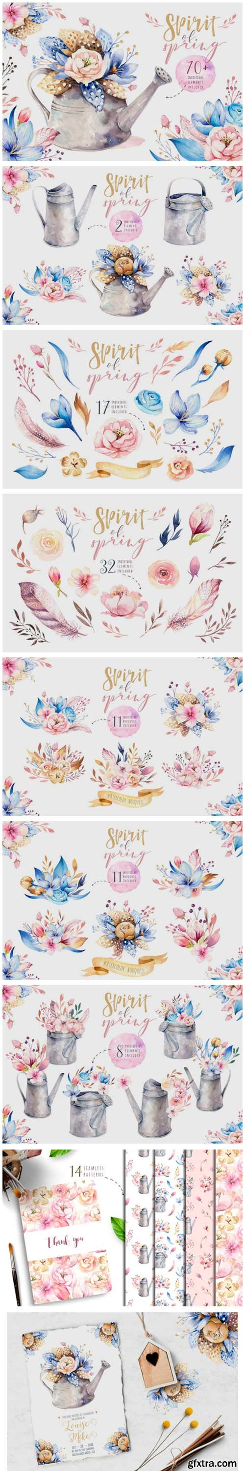 Spirit of Spring. Watercolor Collection 3758784