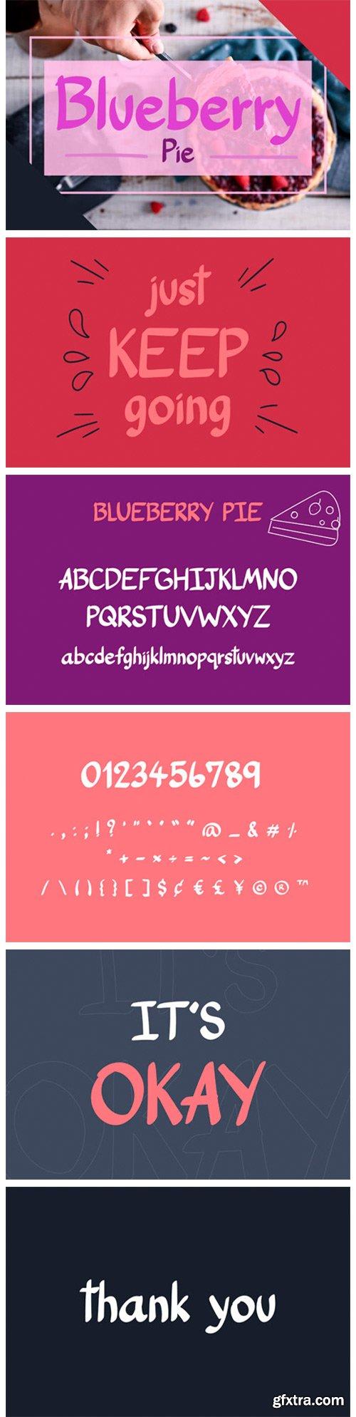 Blueberry Pie Font
