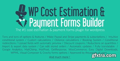 CodeCanyon - WP Cost Estimation & Payment Forms Builder v9.699 - 7818230 - NULLED