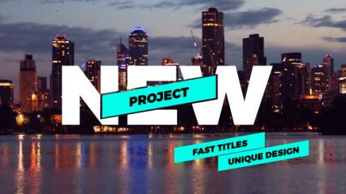 Videohive - Fast Titles