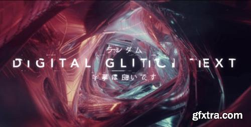 Videohive Digital Glitch Text 20900588
