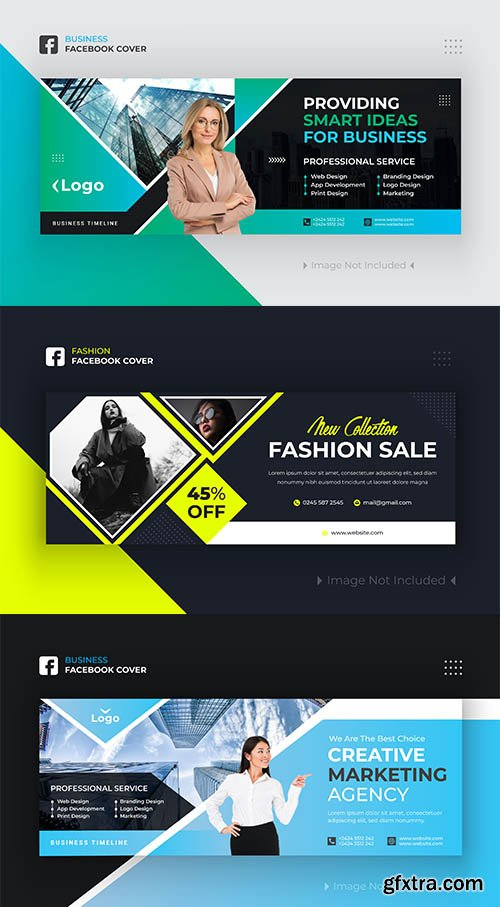 Business and Fashion Facebook Cover Banner Design Premium