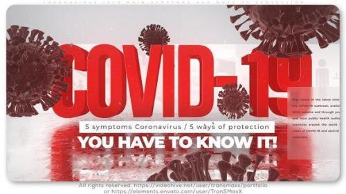 Videohive - Coronavirus Info_Main Symptoms and Ways of Protection