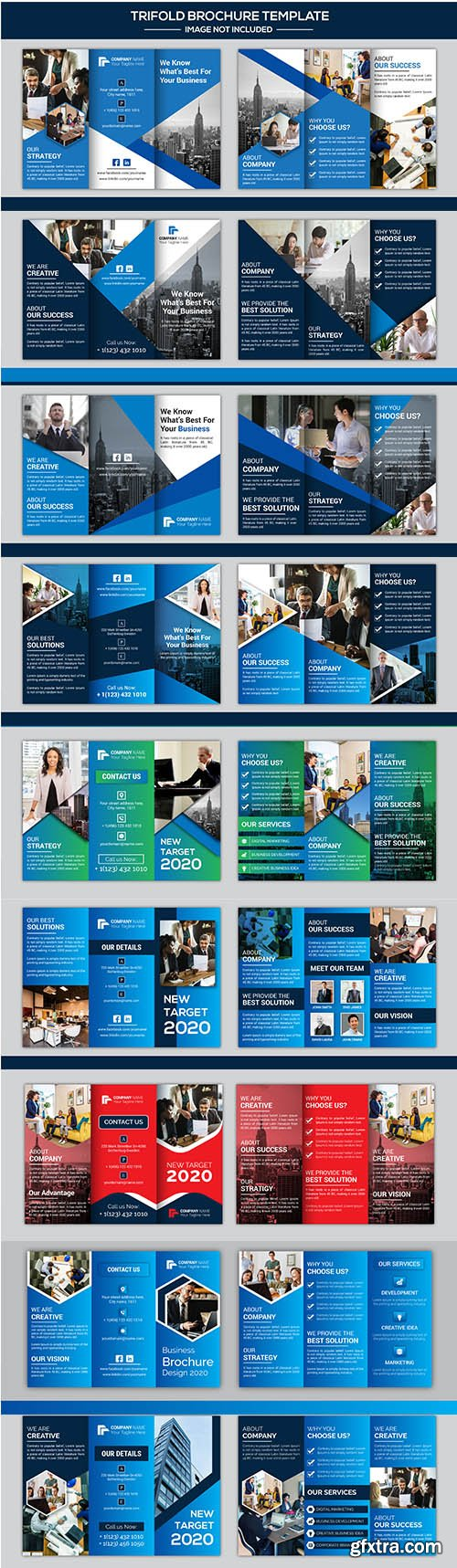 Company Business Trifold Brochure Design