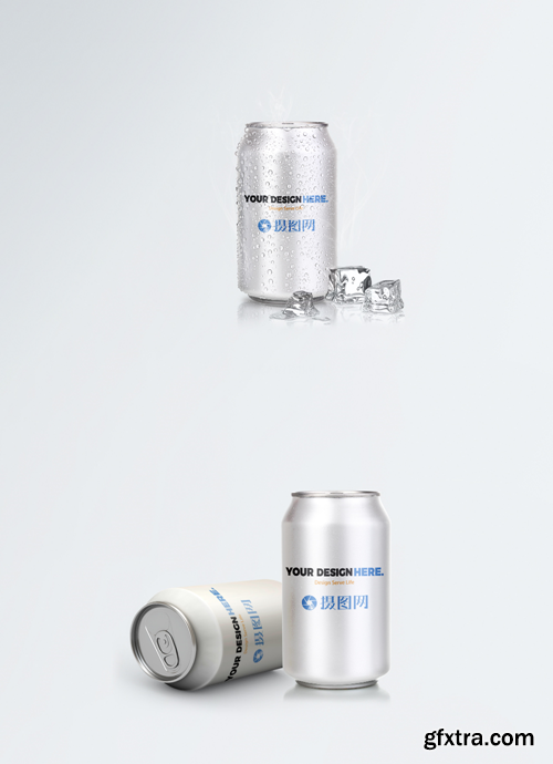 mockup of pop can packaging