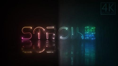 Videohive - Neon Stroke Logo