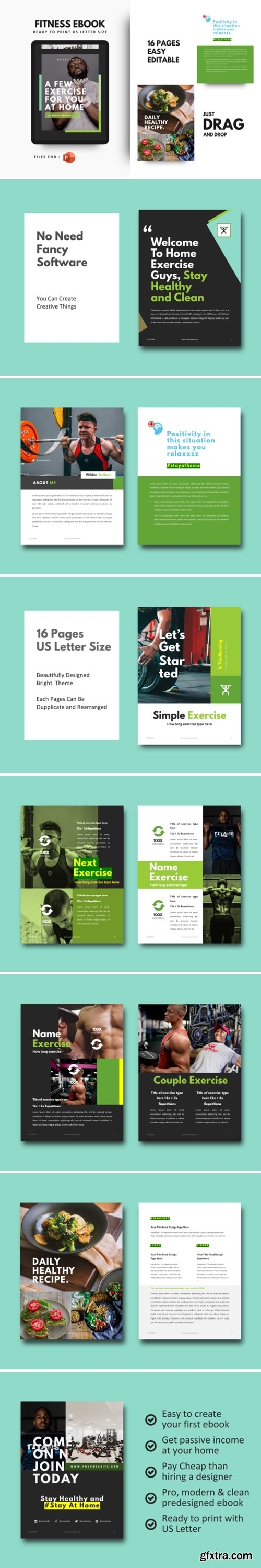 Daily Fitness at Your Home Ebook Template 3768169